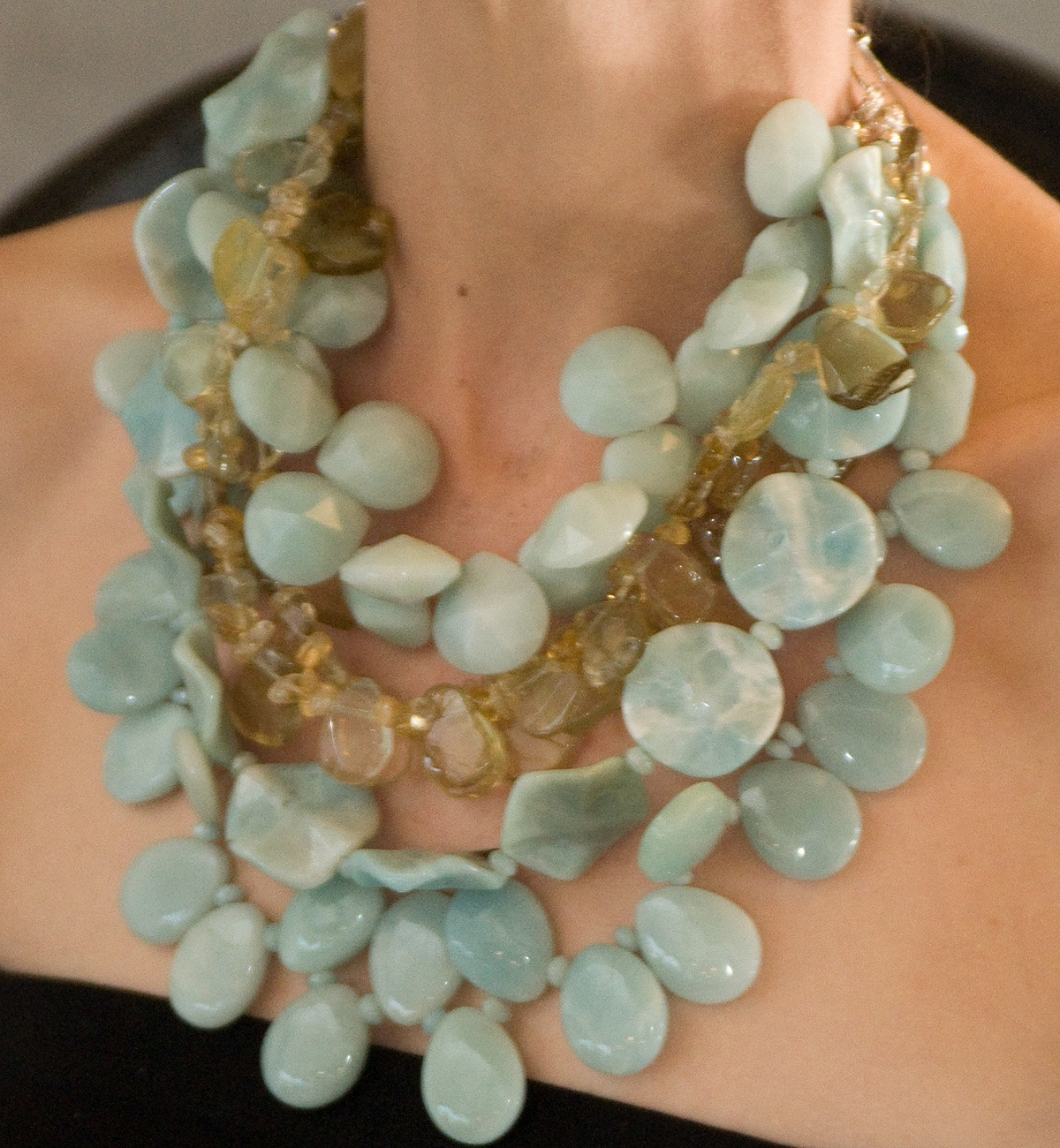 amazonite polished necklace